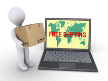 Free shipping to the whole world Stock Photography
