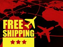 Free shipping transport concept, airlines in the world Stock Image