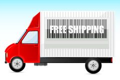 Free Shipping Truck Stock Photo