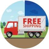 Free Shipping Truck - Rain or Shine Stock Image