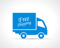 Free shipping truck Royalty Free Stock Photography