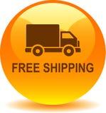 Free shipping web button. Vector illustration on isolated white background - Free shipping web button Royalty Free Stock Photos
