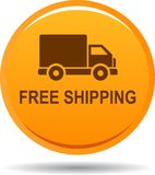 Free shipping web button. Vector illustration on isolated white background - Free shipping web button Royalty Free Stock Images