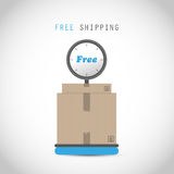 Free shipping weigher. Abstract design Royalty Free Stock Images