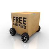 Free Shipping Wheel. Nice work to highlight the background of white color free shipping Stock Photography