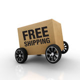 Free Shipping Wheel Royalty Free Stock Images
