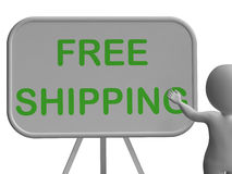 Free Shipping Whiteboard Shows Item Shipped Royalty Free Stock Photography