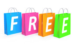 Free shopping concept Royalty Free Stock Photo