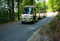 Free shuttle bus in Plitvice Lake National Park Royalty Free Stock Photography