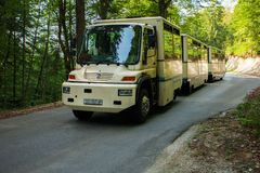 Free shuttle bus in Plitvice Lake National Park Royalty Free Stock Image