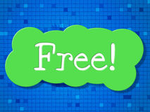 Free Sign Shows With Our Compliments And Advertisement Royalty Free Stock Photography