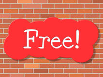 Free Sign Shows With Our Compliments And Display Stock Images