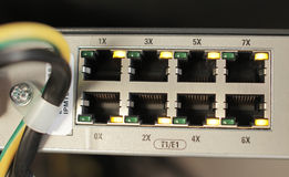 Free slot multiplexer in the mobile station. Shallow depth-of-field royalty free stock photos