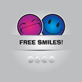 Free smiles. Funny greeting card in Vector Format Royalty Free Stock Image