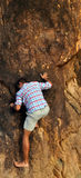 Free solo climbing Stock Images