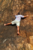 Free solo climbing Royalty Free Stock Images