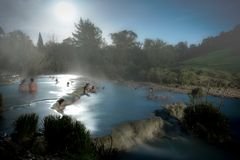 Free spa mills in Saturnia royalty free stock image