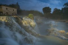 Free spa mills in Saturnia stock images