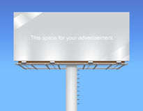 Free space billboard on blue sky. Stock Photo