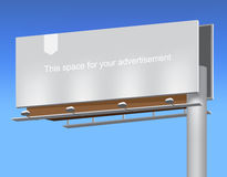 Free space billboard on blue sky. Stock Photography