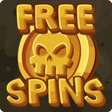 Free spins symbol for slots game stock illustration