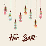 Free spirit flat Royalty Free Stock Image