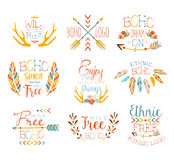 Free Spirit Hand Drawn Banner Set Royalty Free Stock Images