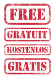 Free stamps Royalty Free Stock Photo
