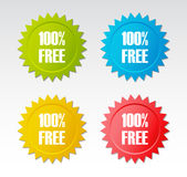 100% free sticker. Design elements Stock Photos