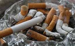 Free stock photo of cigarette, tobacco products, animal source foods Royalty Free Stock Images