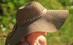 Free stock photo of headgear, sun hat, hat, grass Royalty Free Stock Photos