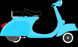 Free stock photo of motor vehicle, scooter, mode of transport, vespa Royalty Free Stock Photos