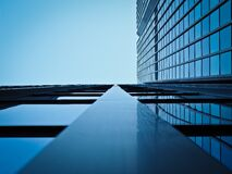 Free stock photo of reflection, blue, daytime, skyscraper Royalty Free Stock Image