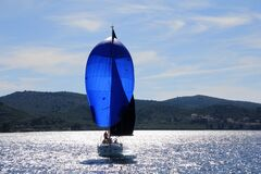 Free stock photo of sail, dinghy sailing, water transportation, water Royalty Free Stock Photo