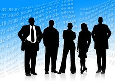 Free stock photo of social group, standing, business, silhouette Royalty Free Stock Photography