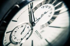 Free stock photo of watch, close up, photography, black and white Royalty Free Stock Images