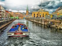 Free stock photo of waterway, canal, body of water, water transportation Royalty Free Stock Photos