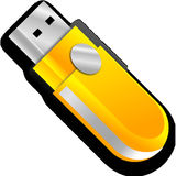 Free stock photo of yellow, technology, usb flash drive, electronic device Stock Images