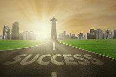 Free street to success in future Royalty Free Stock Photography