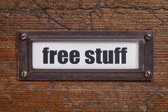 Free stuff  - file cabinet label Royalty Free Stock Photo
