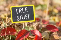Free Stuff Sign Royalty Free Stock Photography