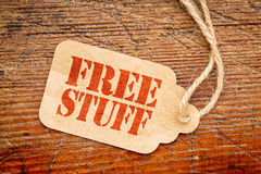 Free stuff sign on a price tag Stock Photography