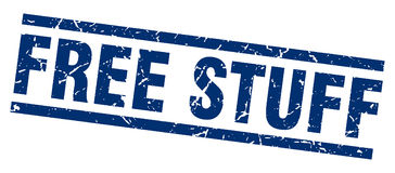 Free stuff stamp Stock Image