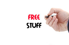 Free stuff text concept Stock Images