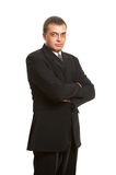 Free style 2. Portrait of the man in a suit on a naked body Stock Photos