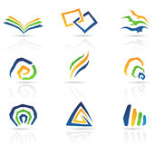 Free Style Abstract Icons Stock Image