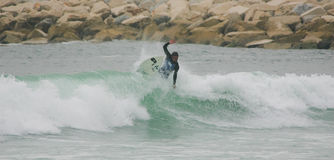 Free Surf in ASP World Qualifier Royalty Free Stock Image