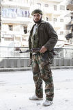 Free Syrian Army fighter, Aleppo. Stock Images