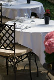Free table for two at the restaurant Royalty Free Stock Images
