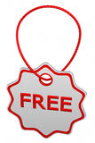 Free tag. 3D rendering. Royalty Free Stock Images